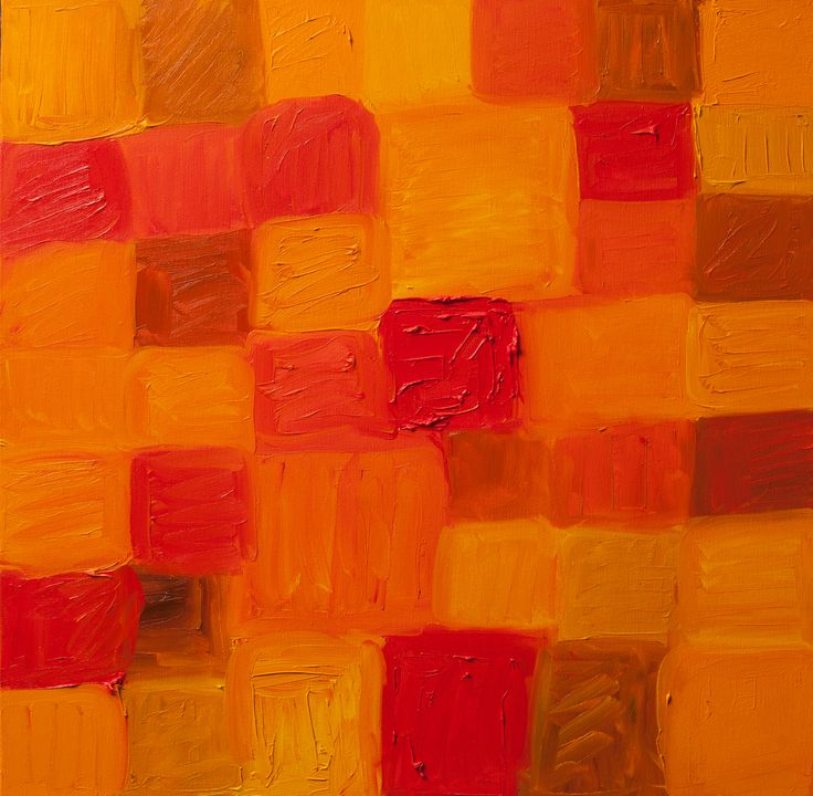 """Positive Abstract Fine Art """"RED CUBE"""""""