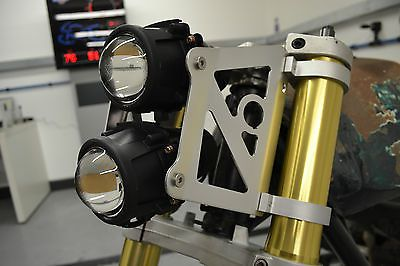 Dual Stacked Streetfighter Projector Motorcycle Headlight Set Emarked 52/53mm