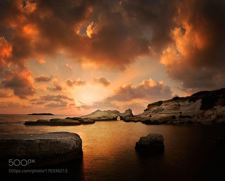 Sunset at Sea Caves by AlbenaMarkova