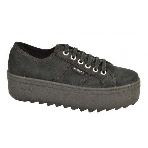 Zapatillas deportivas plataforma antelina VICTORIA | Zapatos Online | Calzado Mujer