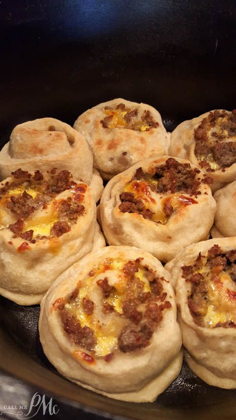 Dutch Oven Sausage Breakfast Pinwheels recipe