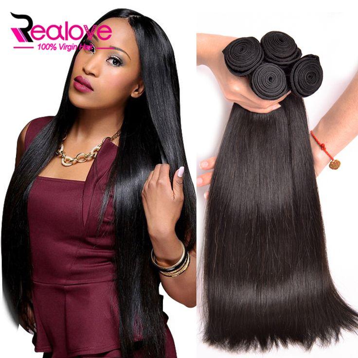 4 Bundles Malaysian Virgin Hair Straight 7A Malaysian Straight Hair 100% Human Hair Bundles Top Malaysian Straight Virgin Hair