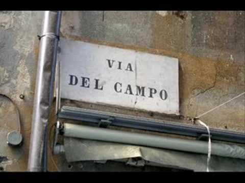 """""""Via del Campo""""  Fabrizio De Andrè"""
