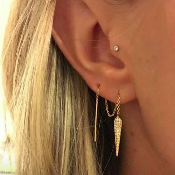 An amazing way to style our Seine Threader earrings! www.stelladot.com/courtneyjohnson