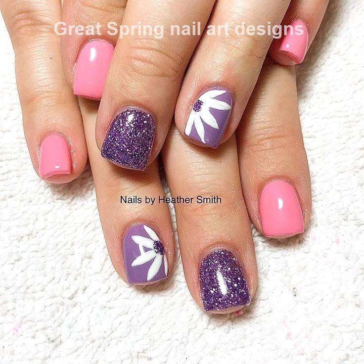 20 Great Spring Nail Designs 2019 Cute Spring Nails Daisy Nails