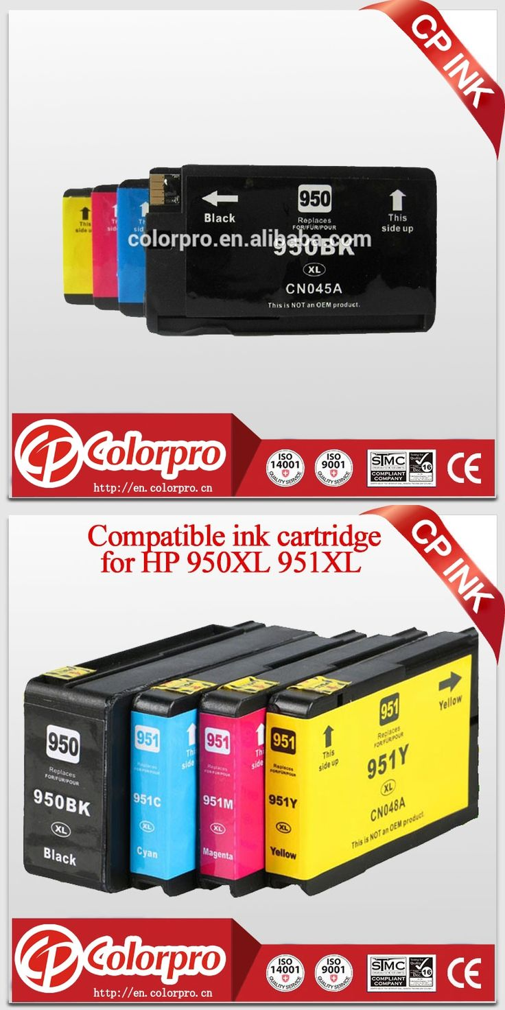 4PCS compatible ink cartridge for HP950 HP951 For HP Officejet Pro 8100 8600 8610 8615 8625 8620 for HP950XL HP 950 HP 950XL