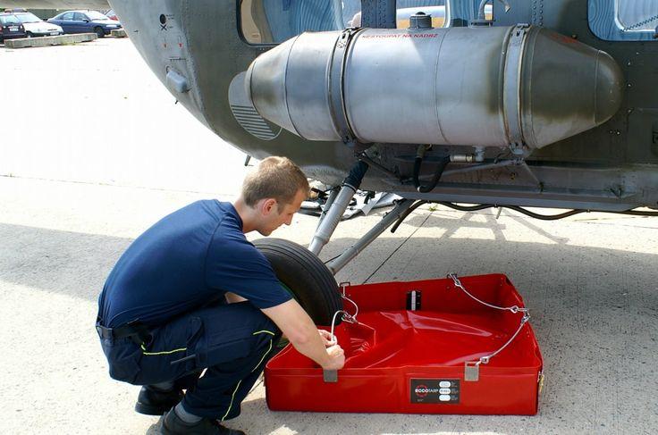 Ecotarp para Aviación de maxpreven Ponemos a disposición de la industria aeronáutica un conjunto de embudos, mangueras y piscinas para trabajar con líquidos peligrosos, de una forma segura para el operario y para el medio ambiente. Soluciones profesionales de maxpreven