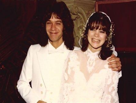 Valerie bertinelli eddie van halen on their wedding day for Who is valerie bertinelli married to