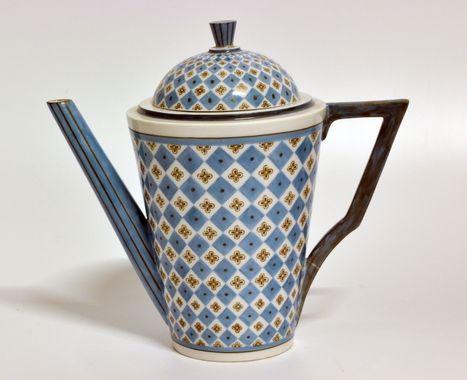 Coffee pot by Nora Gulbrandsen for Porsgrund Porselen. Production 1927-1935. Model 1848