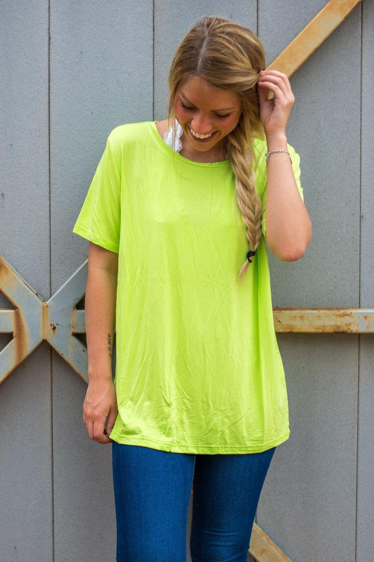 Piko classic t-shirt lime green