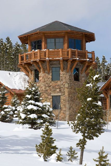 I want a turret! Rocky Mountain Log Homes' Selection of Log Accessories and Components