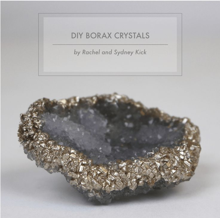 DIY Borax Crystals Tutorial by Rachel and Sydney Kick