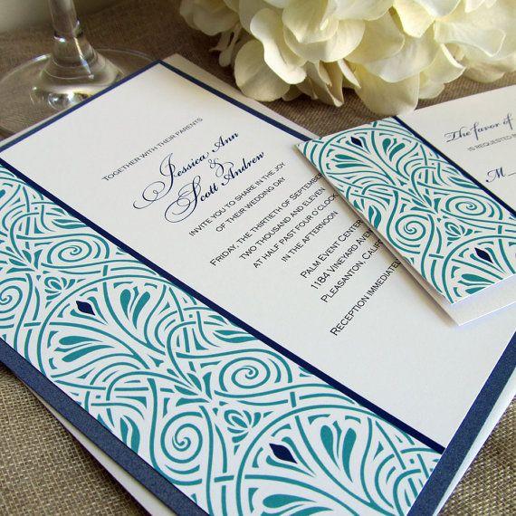 Art Deco Wedding Invitations Art Nouveau by EdenWeddingStudio, $2.50