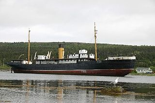 """The SS Kyle is a 220 foot sailing vessel that is aground in the harbour of the Town of Harbour Grace,NL. It ran ashore in February 1967.The ship was known by Newfoundlanders as the """"Bulldog of the North""""....played a major role in ferrying passengers and cargo in Newfoundland and Labrador."""