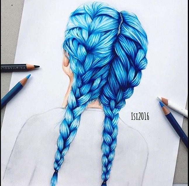 Hübsche Frisuren, Kunsttherapie, Buntstifte, Zeichnungen, Schleifen, Liebe,  Basteln, Zeichnung Ideen, Erstaunliche Zeichnungen