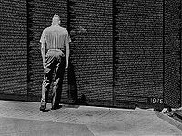 "Vietnam Veterans Memorial in Washington, DC . . . the ""Wall"""
