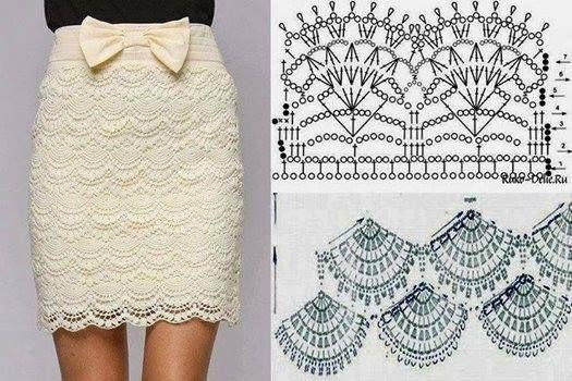 Lovely crochet skirt, free pattern