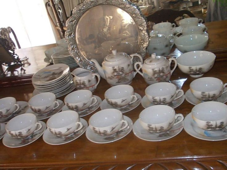 KUTANI japanese perfect porcelain Collection!!Vintage and Rare lithophane tea cups 40pcs by StrangeAttachments on Etsy