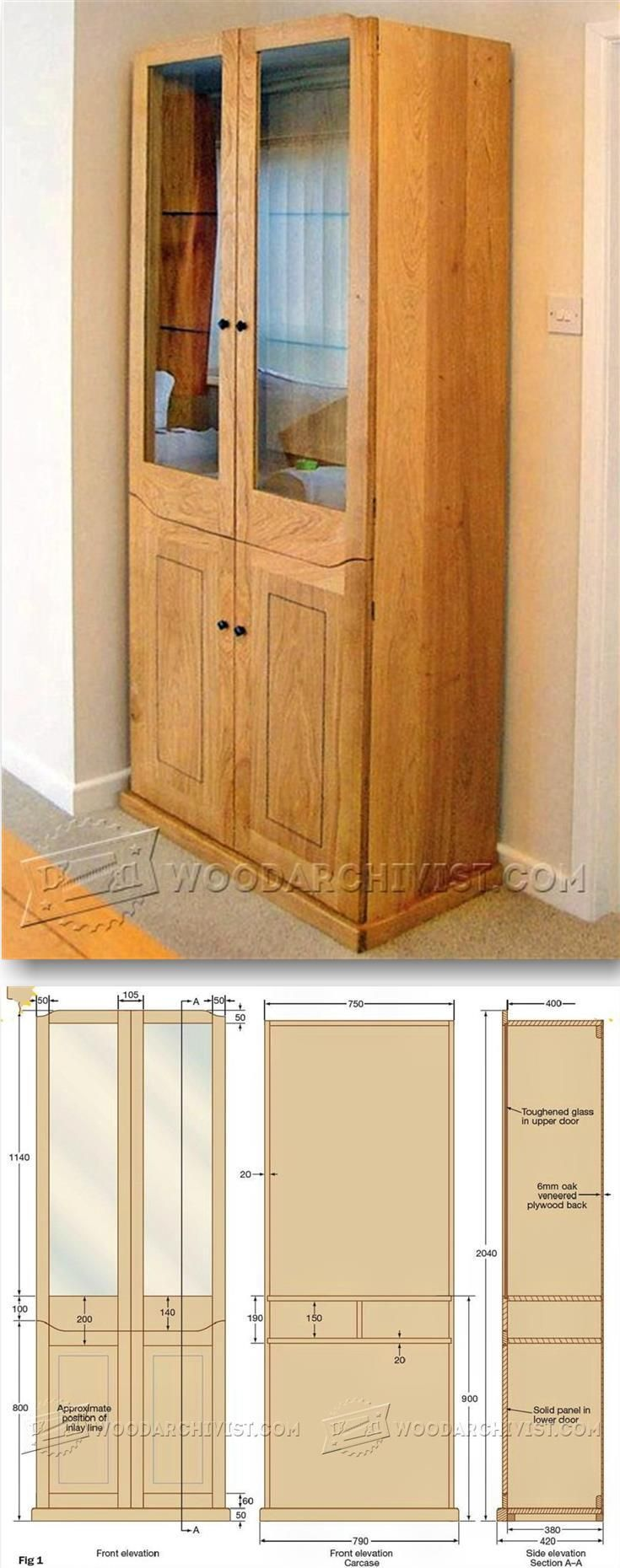 Display Cabinet Plans - Furniture Plans and Projects | WoodArchivist.com