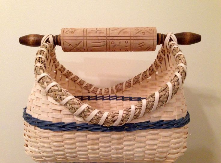 Rolling pin handle basket made by Jen Storey