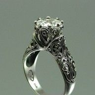steampunk steampunk style engagement ring - Steampunk Wedding Rings