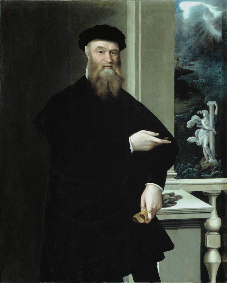 Jacopino del Conte - Portrait de Bindo Altoviti che indica la Fortezza durante una tempesta 1550