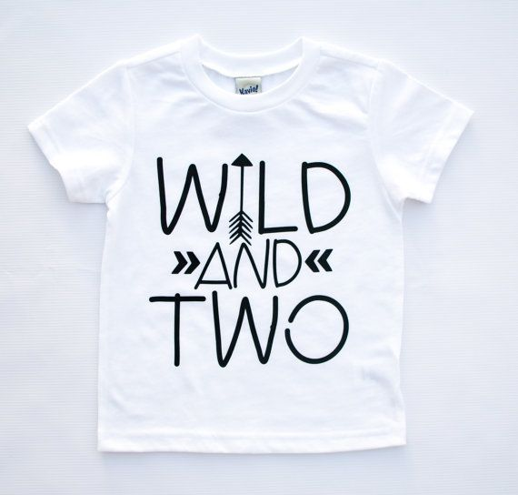 We know how wild a two year old can be, and if you dont you will soon learn!! This birthday tee is super cute, perfect for the birthday kid to wear or to give for a second birthday gift. Want a colored design on this shirt? Send us a message and we can make it happen. Need it by a certain date? Thats no problem, send us a message and we will see what we can do!  Thank you for stopping by and be sure to check out our other items available in the shop at…