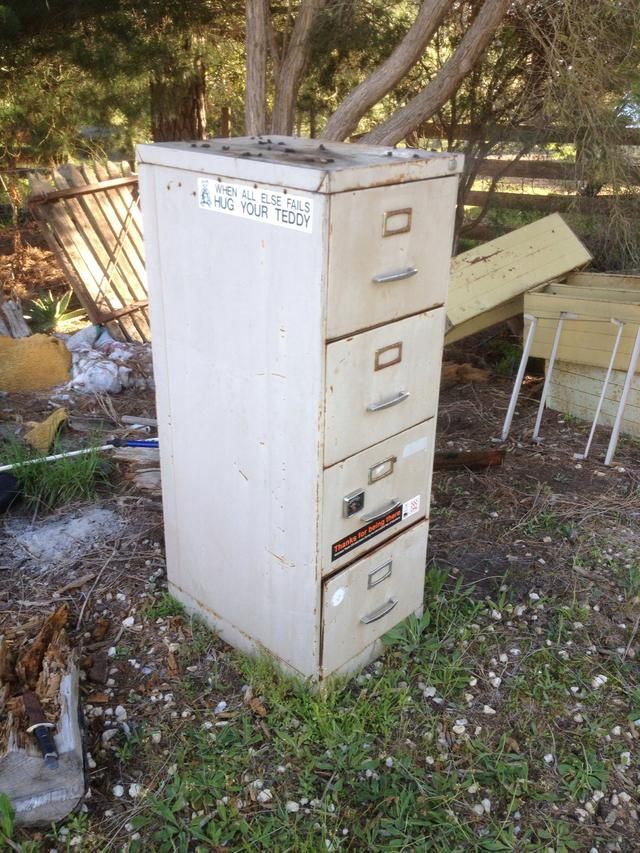Take any average type second-hand filing cabinet.