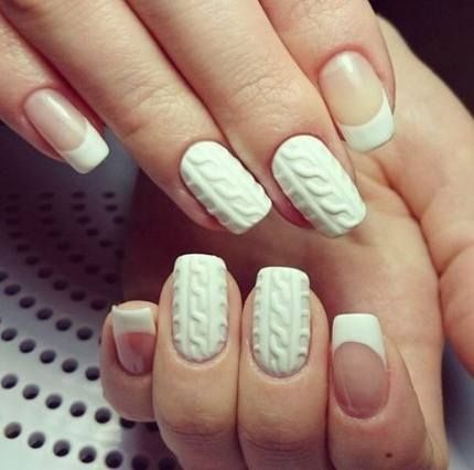 nails white christmas french tips 43 ideas for 2019