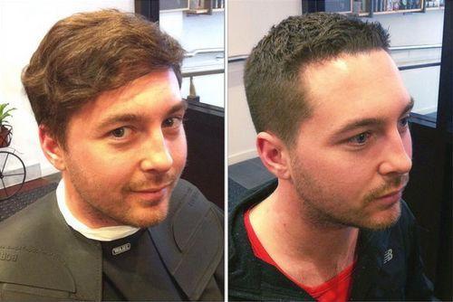 short haircut for men with curly hair