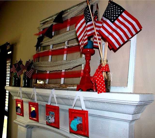 41 best ideas about patriotic decorations on pinterest - Flag decorations for home ...