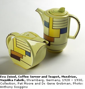 Exceptional Eva Zeisel Hungarian Born American / Mondrian Pattern Teapot W/ Art Deco  Geometric Colour Block Design On Flat Sides Of Circular Shape, For SMF  Schramberger ...
