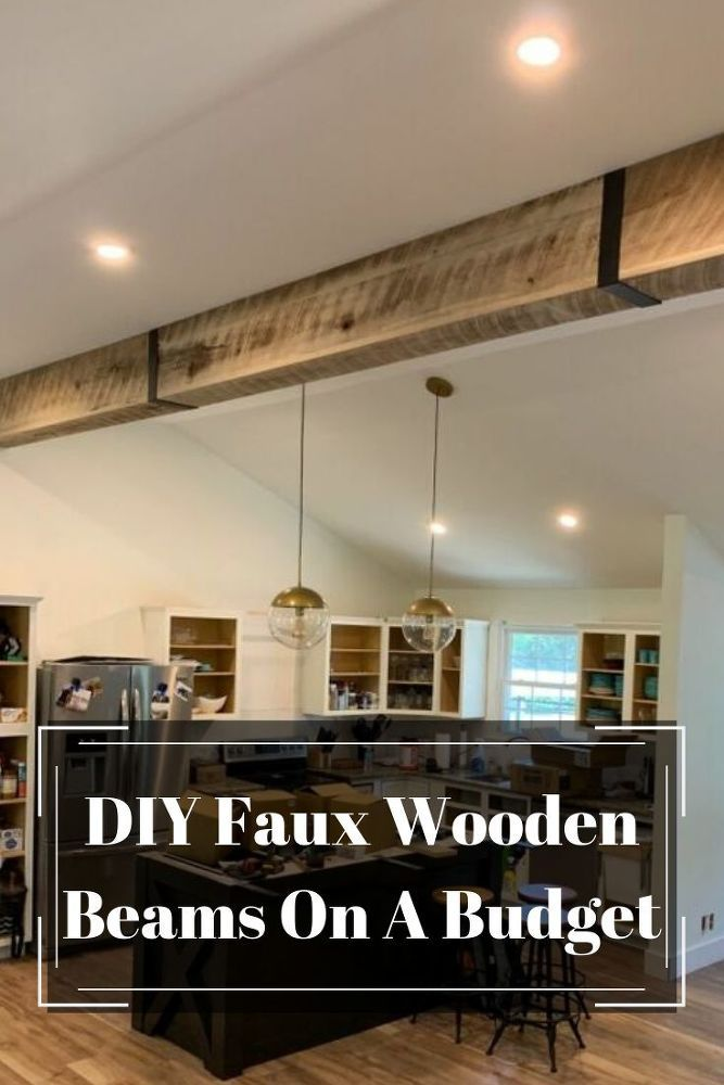 Diy Faux Wooden Beams Faux Wooden Beams Ceiling Beams Living