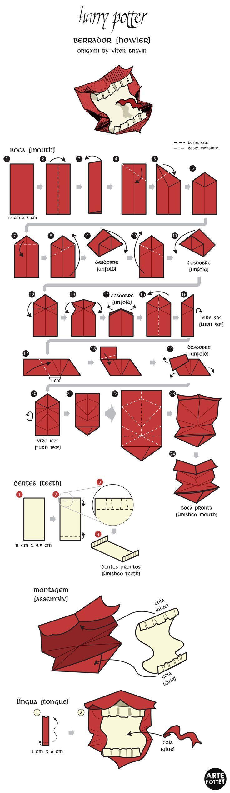 Origami Design - Howler by http://vitorbravin.deviantart.com on @deviantART