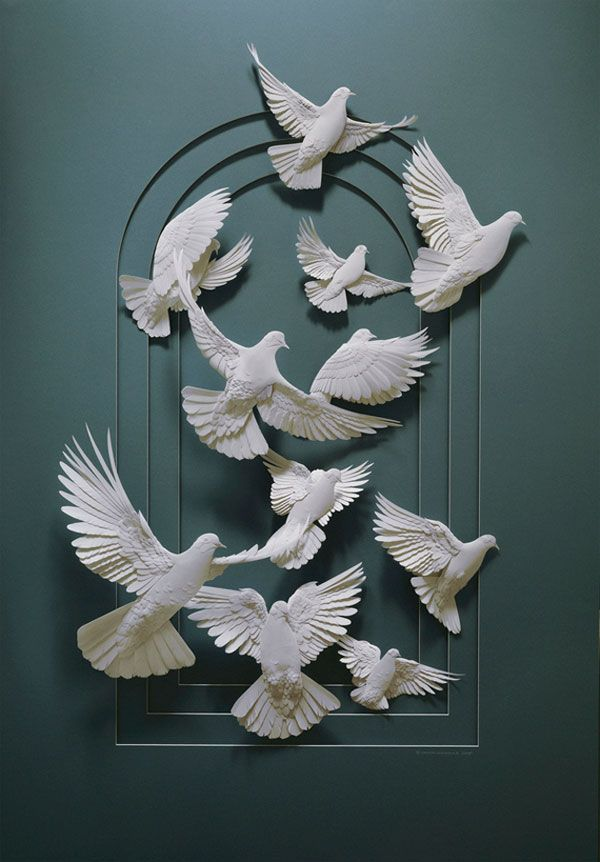 IT'S JUST PAPERBy Canadian paper artist Calvin Nicholls. There is nothing simple or ordinary about his paper art.