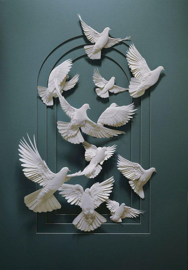 Кальвин Николс бумага искусство .... удивительно