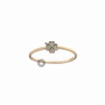 Ένα μοντέρνο δαχτυλίδι τετράφυλλο τριφύλλι σε ροζ χρυσό Κ14 με ζιργκόν. Κατάλληλο και για σεβαλιέ. Αποστολή εντός 24 ωρών. #τριφυλλι #ζιργκον #χρυσο #δαχτυλίδι