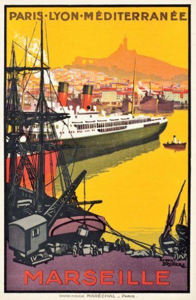 Paris-Lyon-Méditerranée, 1922, by Roger Broders.