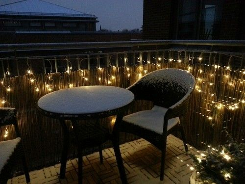 balcony lighting decorating ideas. Makes Balcony In Winter Inviting And A Little Christmasy. IdeasBalcony DecorationYard Lighting Decorating Ideas