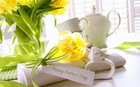 Обои цветы, flowers, holiday, день матери, праздник, mother's day, букет, tulips, тюльпаны, bouquet, card, карта