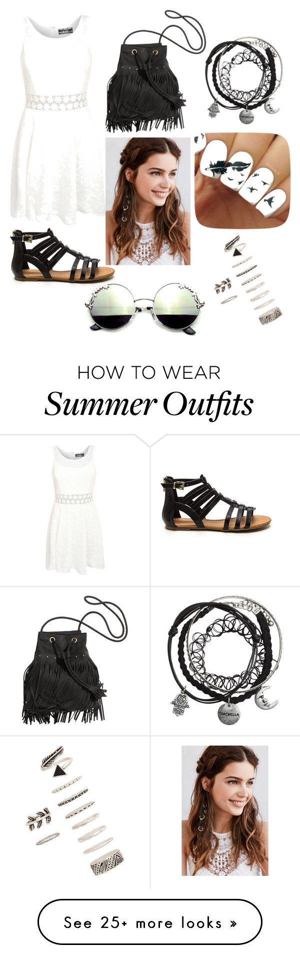 Summer outfit by cayla-dart on Polyvore featuring Pilot, REGALROSE and Forever 21