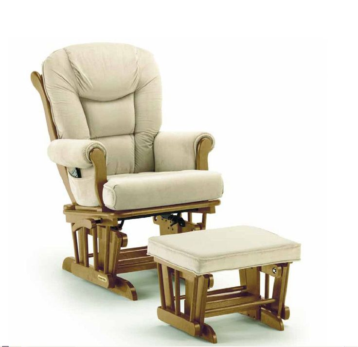 Sleigh Style Matching Glider and Ottoman