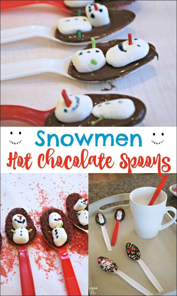 These hot chocolate spoons are so cute and make a great gift idea! Hot cocoa spoons are simple to make with kids and they make a yummy cup of hot chocolate.