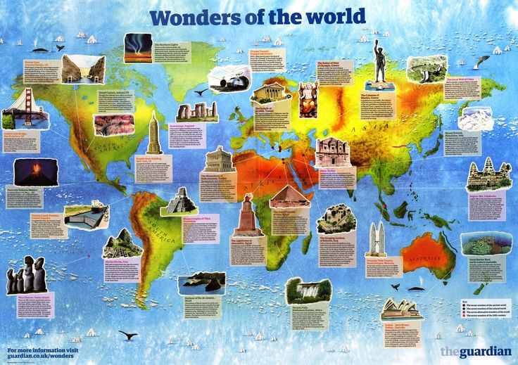 See all 28 Wonders of the World (7 Ancient, 7 Modern, 7 Natural, & 7 Technological)