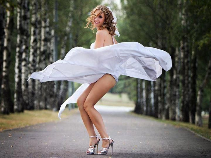 Windy upskirt girl in peru
