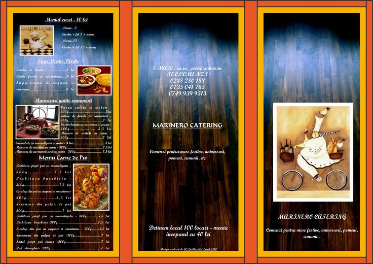 Flyers / Pliante Design - Catering leaflet / pliant - CoMas Advertising