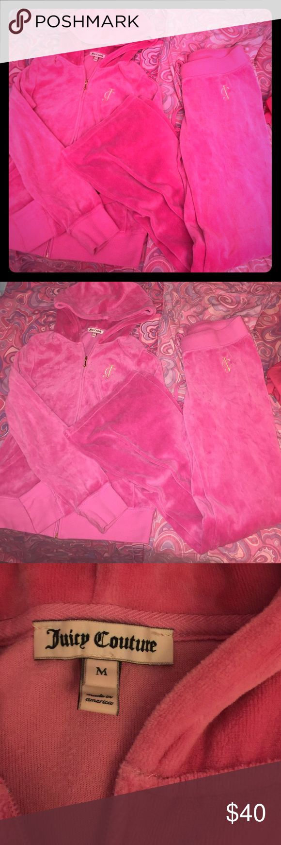 Juicy Couture Sweatsuit Pink side juicy couture sweatsuit, like NEW! Very comfy✨ Juicy Couture Other
