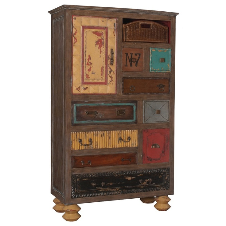 GuildMaster 641018 Artifacts Mosaic Treasures Tall Chest   Home Furniture  Showroom