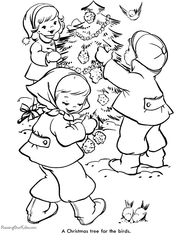 Kids Free Printable Christmas Tree Coloring Pages