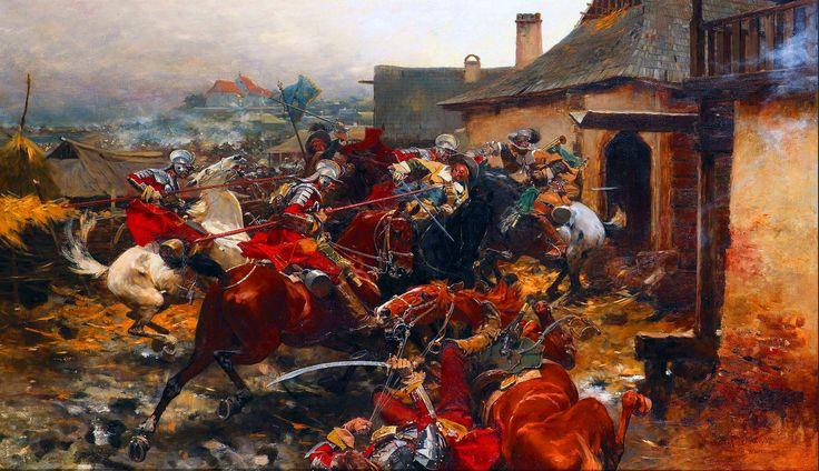 Cavalry battle between Polish and Swedish horsemen